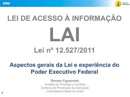 Apresentação Lei de Acesso a Informação Tipo do arquivo