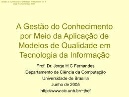 Especialização em Gestão de Tecnologia da Informação