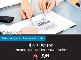 Workshop Informações e Conhecimento