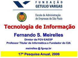 Tecnologia de Informação: Cenário e Tendências