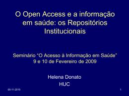 Seminário O Acesso à Informação em Saúde 2009