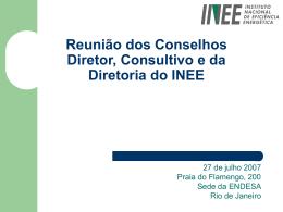 Visão do INEE sobre o tema da Eficiência Energética
