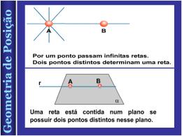 Geometria de Posição Geometria de Posição Geometria de Posição