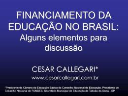 FINANCIAMENTO DA EDUCAÇÃO NO BRASIL