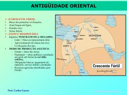 Antigüidade Oriental - Prof. Carlos A. Guzzo