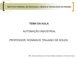 álgebra booleana - Prof. Ronimack Trajano