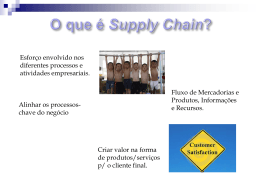 LOGÍSTICA INTEGRADA – Supply chain management