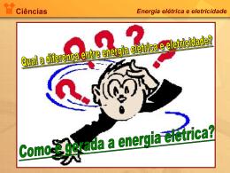 Energia elétrica e eletricidade