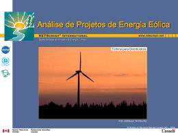 Análise de Projetos de Energia Eólica