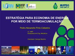 Estratégia para economia de energia por meio de termoacumulação