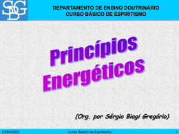 Princípios Energéticos - Sérgio Biagi Gregorio
