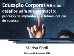 Educação Corporativa e os desafios