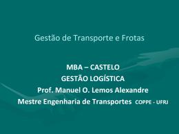Gestão de Transporte e Frotas - Universidade Castelo Branco