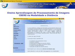 Imagens CBERS - Divisão de Sensoriamento Remoto