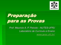 Preparação para as Provas - (LTC) de NUTES
