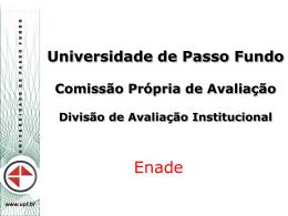 Enade - Conceitos - Universidade de Passo Fundo