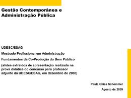 Gestao Contemporanea e Adm Publica - UDESC