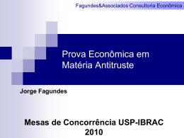 Prova Econômica - FA Consultoria Econômica