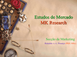 Slideshow Estudos de mercado MK research