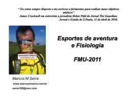 Esportes de aventura Fisiologia - Pós