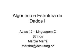 Linguagem C – Strings