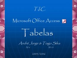 Apresentação sobre o Access 2003