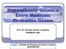 Dependencia Quimica Entre Medicos Conceitos Gerais