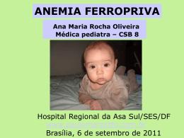 Anemia ferropriva - Paulo Roberto Margotto