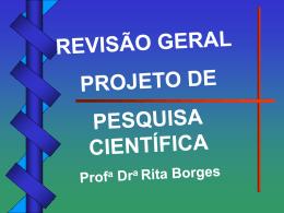 CLASSIFICAÇÃO DAS PESQUISAS - Universidade Castelo Branco