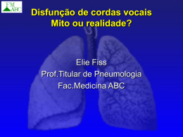 Disfunção de cordas vocais Mito ou realidade?
