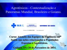 Panorama atual - Estado de Goiás