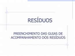 RESÍDUOS - Gestão de Resíduos Online