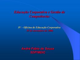 André Fabio de Souza - Educação Corporativa
