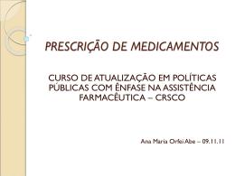 PRESCRIÇÃO DE MEDICAMENTOS