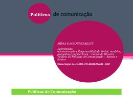 Políticas Públicas de Comunicação