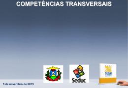 COMPETÊNCIAS TRANSVERSAIS