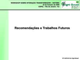 Recomendações e Trabalhos Futuros