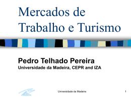 Oferta de Trabalho - Universidade da Madeira