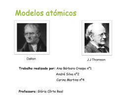 Modelo atómico de Dalton e Thomson