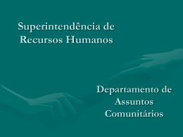 Divisão de Assuntos Comunitários Programa Auxílio