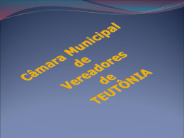 2º Quadrimestre - Câmara de Vereadores de Teutônia