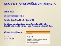 operações unitárias a - PUC-Rio