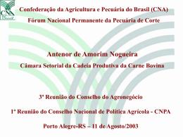 CONJUNTURA ECONÔMICA O Setor Agropecuário