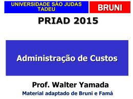 Custos indiretos - Universidade São Judas Tadeu