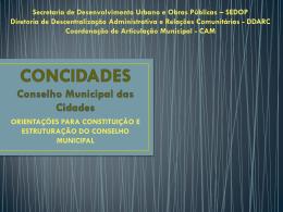 concidades - apresentação municipios passo a passo
