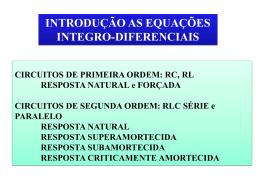 CIRCUITO DE PRIMEIRA ORDEM IncluIindo a condição