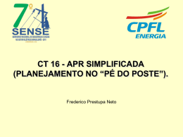 "APR Simplificada (Planejamento no ""Pé do Poste"")"