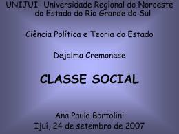 Classe Média - Capital Social Sul