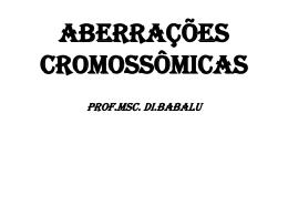 Anomalias Cromossômicas 2015 DI.BABALU