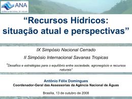 IX Simpósio Nacional Cerrado, 13 de outubro